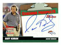GARY KUBIAK 2004 Bowman Coaches Rookie Coach RC Certified Auto Autograph AU Card