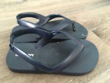 b8c069993279 Old Navy Boys Girls Size 9 Navy Blue Flip Flops Sandals Slingback Ankle  Strap