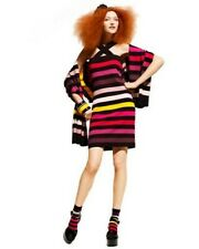 SONIA RYKIEL H&M RARE RAINBOW STRIPE BODY CON DRESS MEDIUM UK 12-14 EU 38-40 NEW