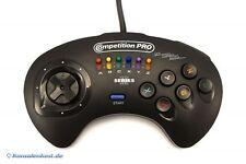 Mega Drive-controlador competición Pro Series III 6-button #schwarz [Honey Bee]