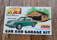 SEALED~1979~1/43 HO Lindberg PORSCHE TARGA~CAR & GARAGE KIT 2133 snap fit~NO UPC