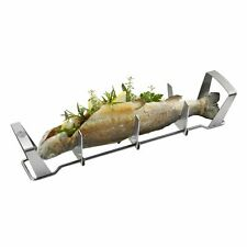 GEFU BBQ Fischhalter aus Edelstahl ideal für Forellen