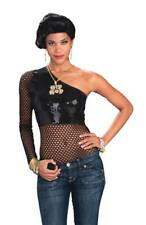 NEW Adult Female Themed Hip Hop Mesh Top Female Adult Female Costume 80s