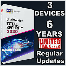 BITDEFENDER TOTAL SECURITY 2020 - 6 YEARS FOR 3 DEVICES - DOWNLOAD