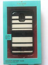 Kate Spade New York Stripe Backup Battery Case for Samsung Galaxy S5 Black/Cream