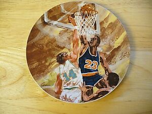 """Avon """"Moments Of Victory"""" Plate Collection -  Basketball - 7"""" - 1985 - NEW"""