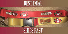 NEW NFL Official Team Colors REVERSIBLE KEYCHAIN LANYARD -San Francisco 49ers