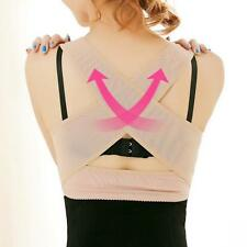 Faddish Lady Breast Push Up Body Shaper Bra+Back Support Posture Correction - CB