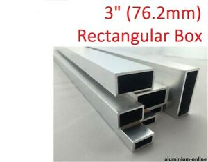 "ALUMINIUM RECTANGULAR BOX SECTION 3"" (76.2mm),  5 variations, 100mm - 2500mm"