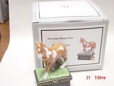 PHB MIDWEST HORSE SERIES PAINT HORSE TRINKET BOX W/ HORSESHOE TRINKET