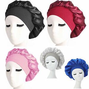 Long Hair Care Women Satin Bonnet Sleep Hat Cap Night Caps Silk feel Head Wraps