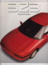 1989 MAZDA 323 ASTINA Australian 16p Brochure 6th Generation FAMILIA 323F