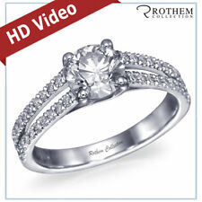 Round Not Enhanced White Gold I1 Diamond Engagement Rings