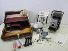 Vintage Polaroid 80B Highlander Camera w/Leather Case & Accessories