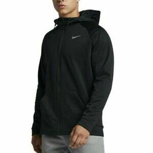 Nike Black Zip Up Therma Dri Fit Training Hoodie Jacket AJ4450 010 Men's XLT