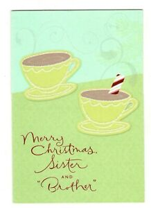HOT CHOCOLATE SISTER & BROTHER IN LAW Hallmark Christmas Greeting Card MG65