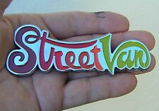 DODGE STREET VAN CHROME METAL BADGE Emblem *New* StreetVan Multi Colour
