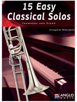 15 Easy Classical Solos for Trombone & Piano