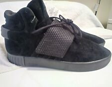 ADIDAS Mens Tubular Invader Strap Black Suede Hightop Sneakers BB1398 Size 10