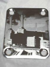 Chrome Engraved P Floyd Guitar Neck Plate  fits Fender tele/strat/squier