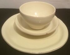 Vietri Cucina Fresca Set of 3  Dinner Salad Plates Bowls Place Settings Italy