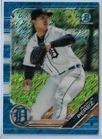 2019 Bowman Chrome Blue Shimmer Refractor Parallel Franklin Perez  137/150 SP