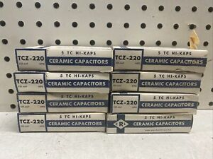 Lot of 8 NOS Vintage Centralab Ceramic Capacitors Boxes of 5 TCZ-220 HAM RADIO