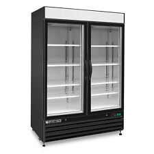 "Maxx Cold 54"" Commercial Two 2 Door Frost Free Glass Door Merchandiser Freezer"