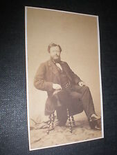 Cdv old photograph French novelist journalist Edmond About c1860s