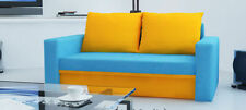 Unbranded Up to 2 Seats Fabric Solid Pattern Sofa Beds