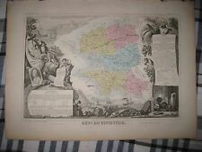 ANTIQUE 1856 FINISTERE FRANCE LEVASSEUR MAP WINE AREA INTEREST FINE ART IMAGERY