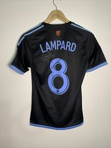 New York City FC Authentic Adidas 2015 Away Frank Lampard Hand Signed Jersey