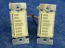 Lightolier CC600VAPLC Compose PLC Designer Individual Room Dimmer Ivory lot of 2