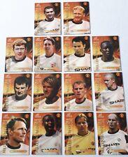 Futera Manchester United Millennium Gold Complete 14 Card Set