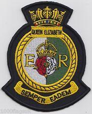HMS Elizabeth Royal Navy Embroidered Crest Badge Patch - MOD Approved