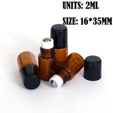 5pcs 2ml Roll on Glass Bottle Essential Oil Perfume Metal Roller Ball Bottle