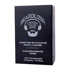 Beardilizer® Lingettes Nettoyantes pour Barbe - 10 Sachets