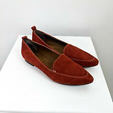CYNTHIA ROWLEY Women's Paprika Red Pointed Loafer Shoes Size 7.5 NWOT LEATHER