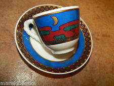 VILLEROY & BOCH PALOMA PICASSO AFRIQUE ESPRESSO CUP AND SAUCER