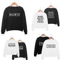 Women Long Sleeve Hoodie Sweatshirt Sweater Casual Hooded Coat Pullover Jumper