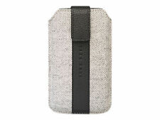 Genuine Hugo Boss Alness Leather & Wool Slip Case Wallet Sleeve iPhone 3 4 4s