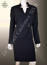 TAHARI Women Skirt Suit Size 16 BLACK Two-Piece 3 BUTTONS Dressy NEW $280 LBCUSA