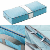 Zipped Clothes Duvet Clothing Pillow Under Bed Handle Storage Organizer Bags US