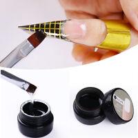 7ml Clear Nail Art UV Gel Builder Tips Extension Glue Semi-transparent Manicure