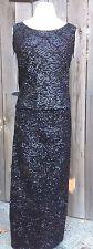 SALE Vintage Black Sequin Long Skirt & Top Gene Shelly's Boutique Internationale