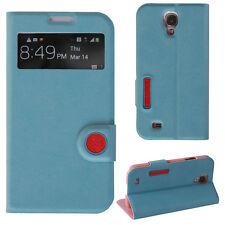 Cover für Samsung Galaxy S4 Tasche Schutz Hülle Etui Flip Case Handy Smart blau