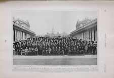 1903 Estampado Almirantes Señor Molyneux Oficiales Training Bastón Naval College