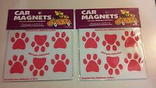 New Pink Mini-Paw Car Magnets for Cars, Mailboxes and More Quantity of 2 Sets