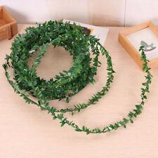 3XGuirnalda de seda verde hoja hierro alambre flor Artificial DIY guirnalda ES