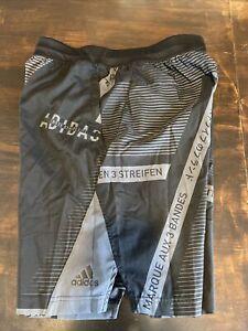 Adidas Men's 3 Three Stripe Life Carded Black Shorts Size Medium